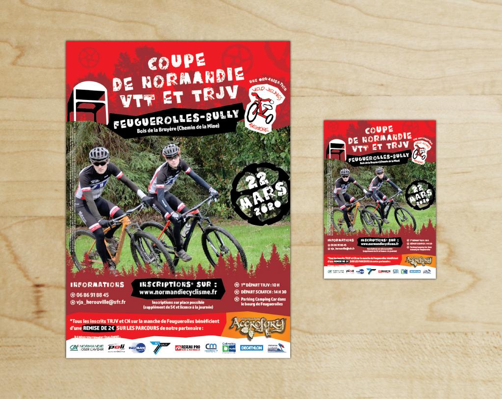 Aperçu de l'affiche A3 et du flyer A5 - Vélo Jeunes Aventure - Mars 2020
