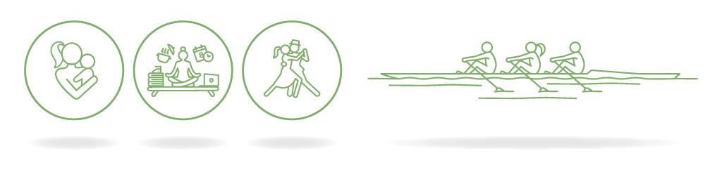 Aperçu des pictogrammes pour les femmes (à gauche) et les professionnels (à droite) - Fleur de SAINT SERNIN, kinésiologue - Mars 2020