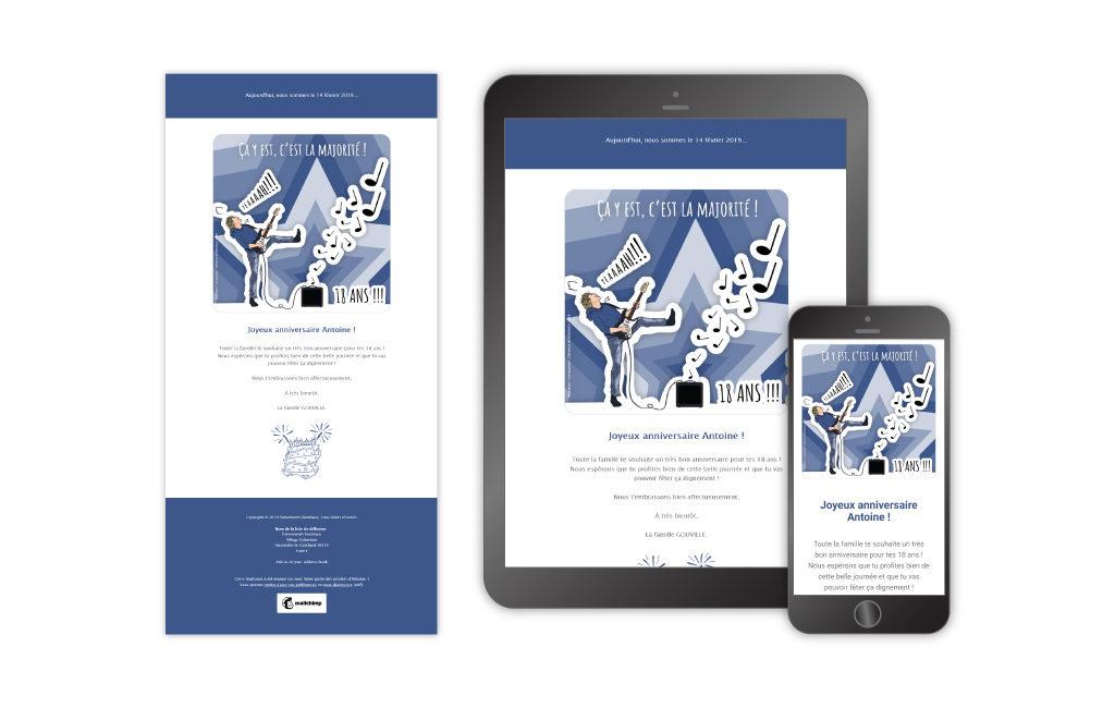 Aperçu de la carte numérique sur tablette et mobile + maquette générale, février 2019
