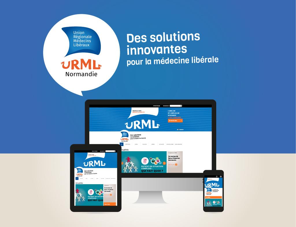 Home page, site web URML Normandie