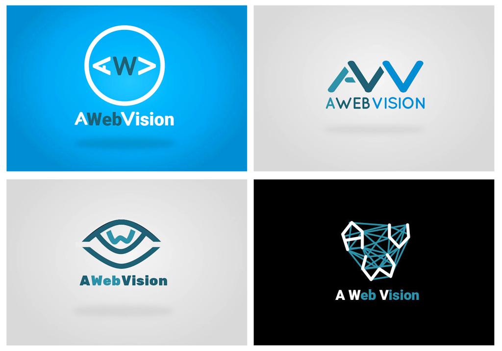 A Web Vision, axes de recherche pour le logo