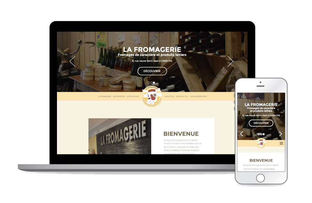 La Fromagerie - site web, home page (Sources photos : La Fromagerie)