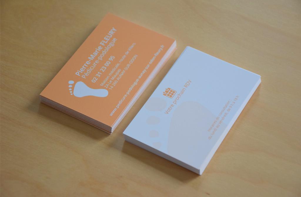 Visuel Cartes de visite Pierre-Marie Fleury, Pédicure-podologue, 2017