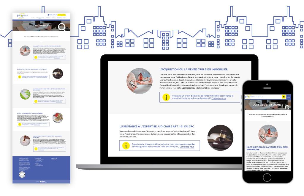 Bellexpertises, site vitrine - Page Conseils