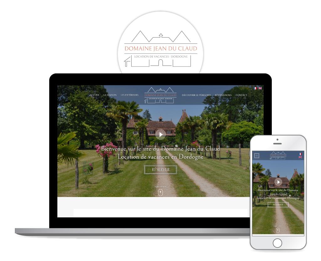 Domaine Jean du Claud - Refonte du site web - Page d'accueil