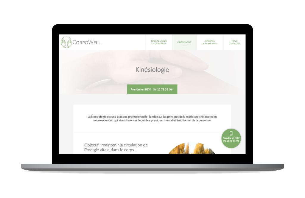 Aperçu de la page Kinésiologie - CorpoWell - 2019