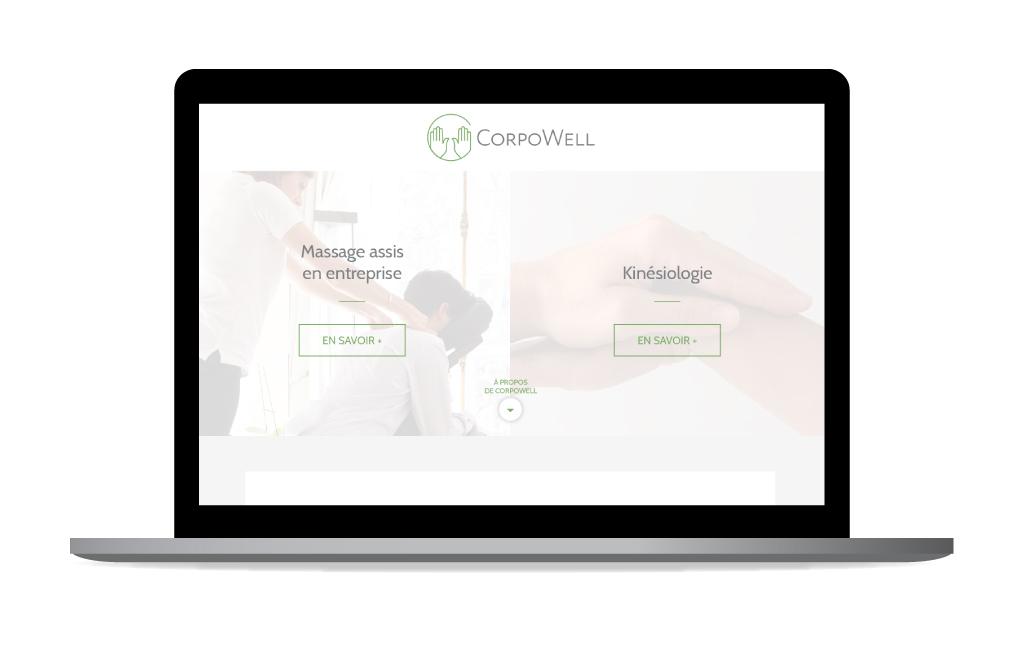 Aperçu de la page d'entrée vers les deux activités - CorpoWell - 2019