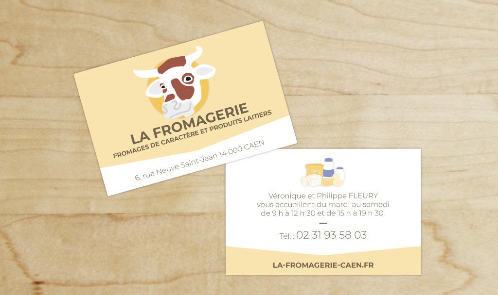 Refonte 2018 de la carte de visite de La Fromagerie, boutique de fromages au lait cru à CAEN (14)