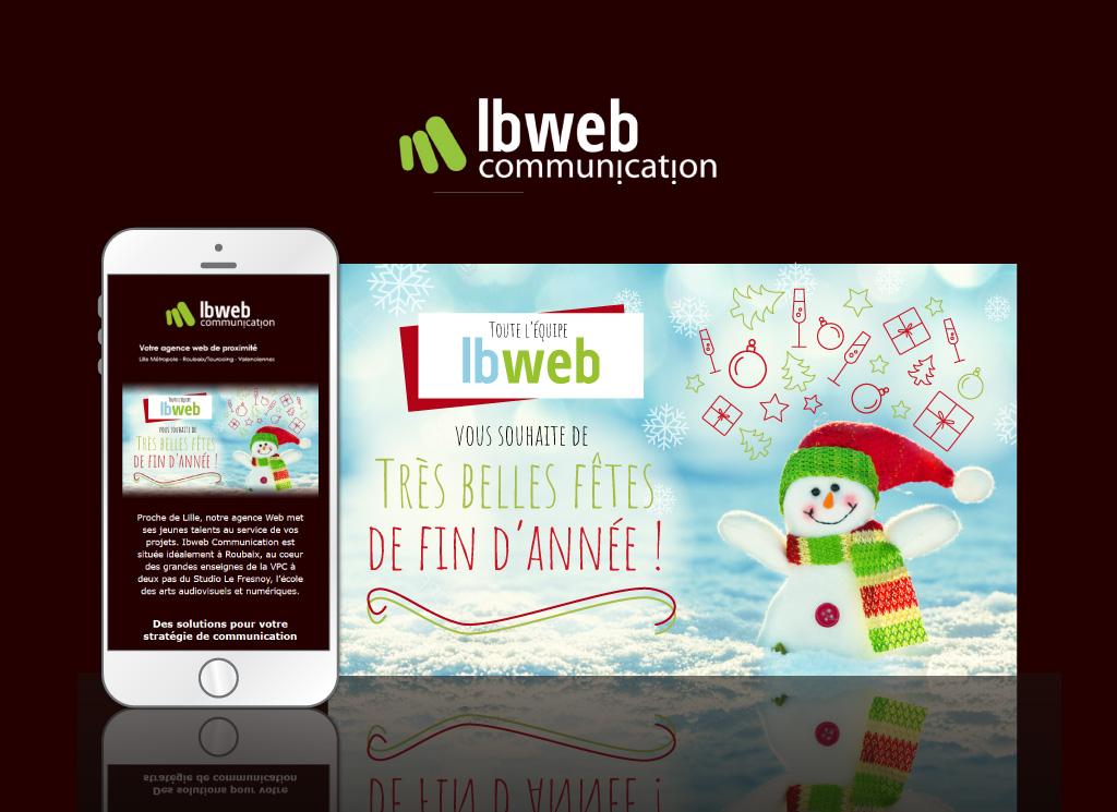 Visuel de la newsletter d'IBWeb pour les fêtes de fin d'année de 2017