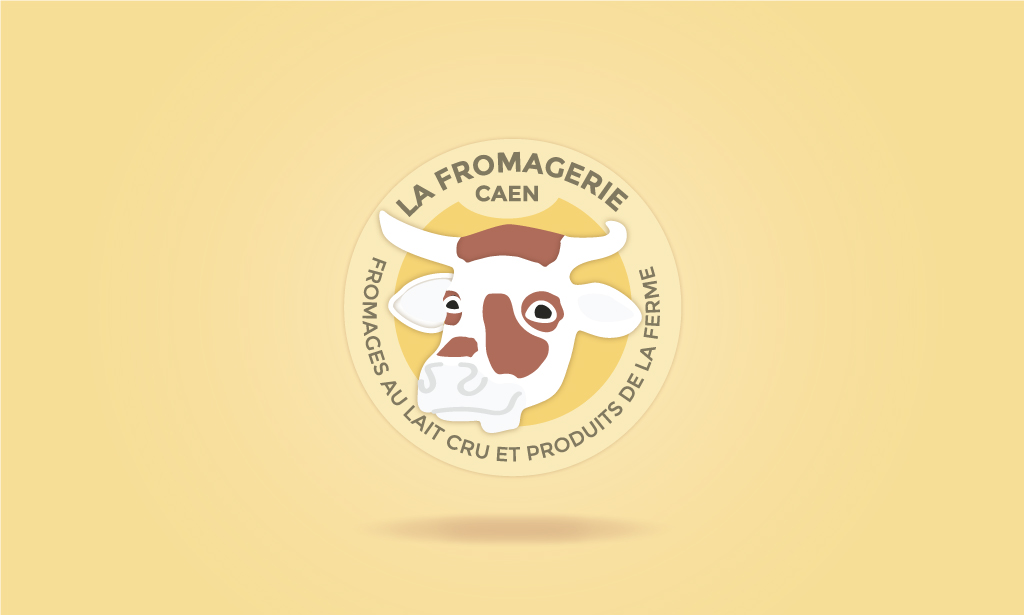Visuel  Identité visuelle La Fromagerie de CAEN - Secteur commercial, alimentation - 2018