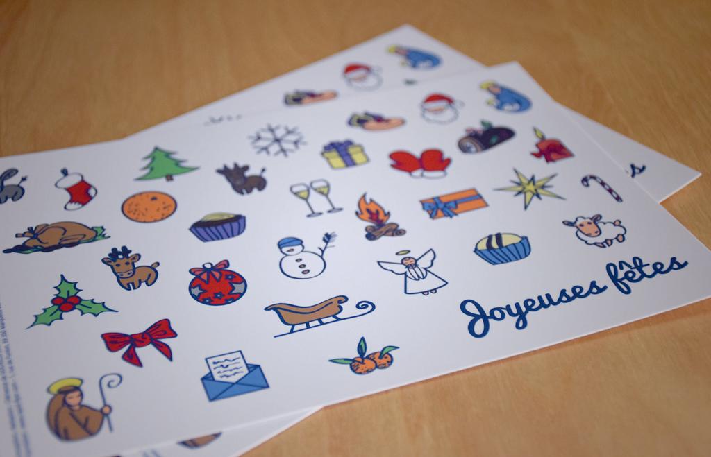 Modèle 1 - cartes de vœux