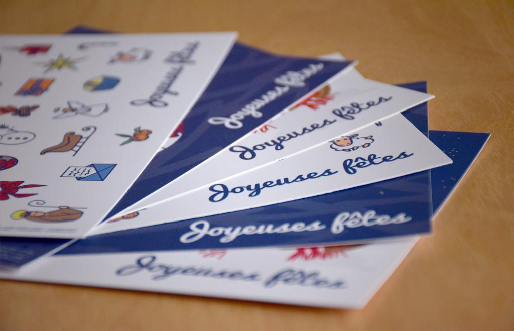 Détail des cartes de vœux