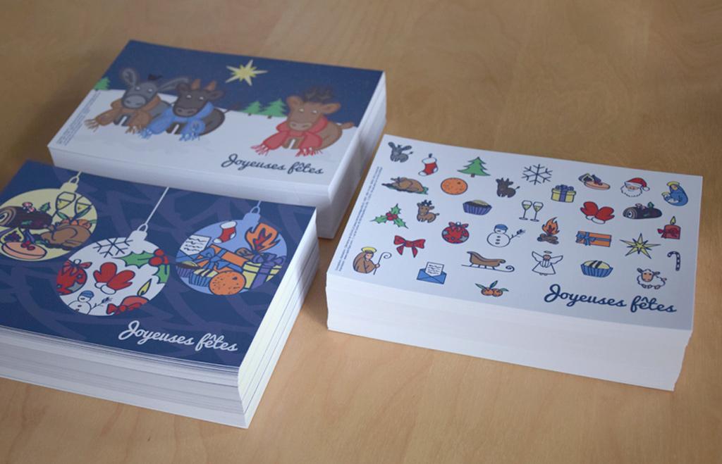 Exemplaires des cartes de vœux