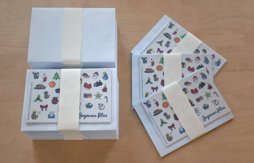 Présentation des lots des cartes de vœux